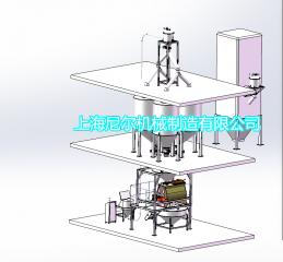 富义仓大米食品混合输送生产线安装调试